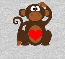 Monkey Love Cute Fun Unisex T-Shirt