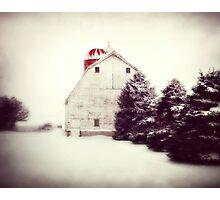 Red Silo Photographic Print