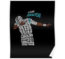 Cam Newton text design Poster