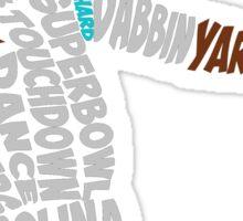 Cam Newton text design Sticker