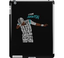 Cam Newton text design iPad Case/Skin