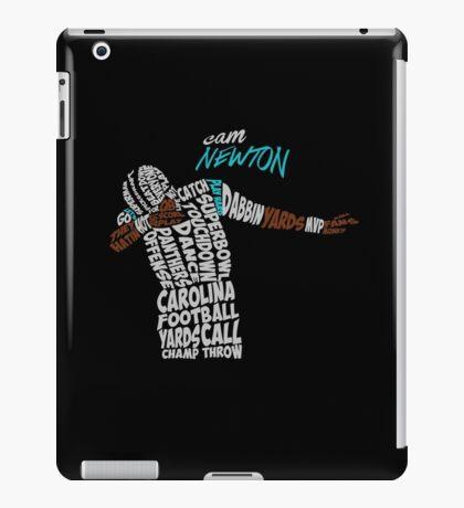 Cam Newton text design iPad Case/Skin