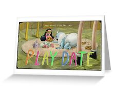 Adventure Time 'play date' title card Greeting Card