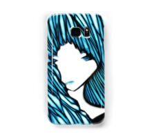 Blue Hair Fall Day Samsung Galaxy Case/Skin