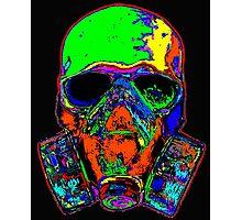 Toxic skull (green) Photographic Print