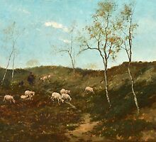 Joseph Wenglein, Landscape with Cows by Adam Asar