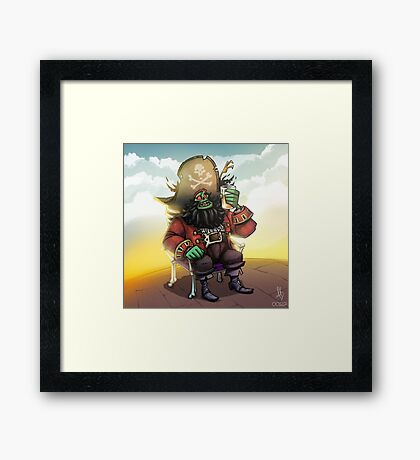 0029 - Bone Chair LeChuck Framed Print