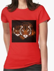 Mother Tiger and Cub  Womens Fitted T-Shirt