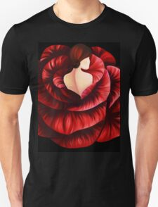 Woman in Rose Unisex T-Shirt