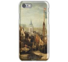 JULES-ACHILLE NOËL ; VIEW OF A TOWN IN NORMANDY iPhone Case/Skin