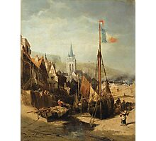 JULES-ACHILLE NOËL ; VIEW OF A TOWN IN NORMANDY Photographic Print