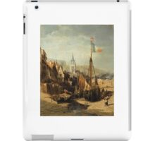 JULES-ACHILLE NOËL ; VIEW OF A TOWN IN NORMANDY iPad Case/Skin