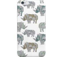 Zen art mild colored rhinceros pattern iPhone Case/Skin