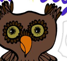 Owl says Good Night Sticker
