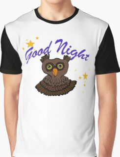Owl says Good Night Graphic T-Shirt
