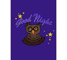 Owl says Good Night Photographic Print