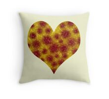 Fur Spotted Heart Throw Pillow