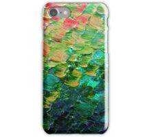 MERMAID SCALES 4 Rainbow Colorful Ombre Ocean Waves Abstract Acrylic Impasto Painting Teal  GreenArt iPhone Case/Skin