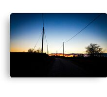 road towards the sunset Canvas Print