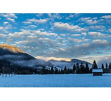 sunset after the first snowfall Photographic Print