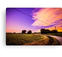 night in the fields Canvas Print