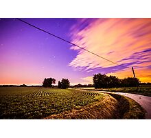 night in the fields Photographic Print