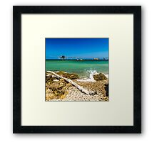 italian seaside Framed Print