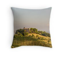Sunset in the italian countryside Throw Pillow