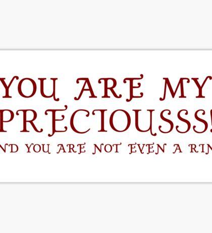 Nerd Valentines: My precious! Sticker