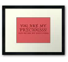 Nerd Valentines: My precious! Framed Print