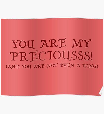 Nerd Valentines: My precious! Poster