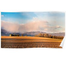 Abandoned farm in the countryside Poster