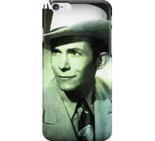 Hank Williams Green Colors Design iPhone Case/Skin