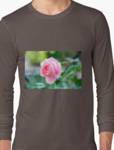 perfect pink garden rose  Long Sleeve T-Shirt