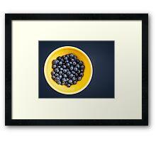 Blueberry Bowl Framed Print
