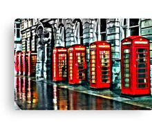 Red Telephone Boxes Canvas Print