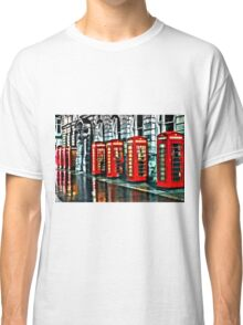 Red Telephone Boxes Classic T-Shirt
