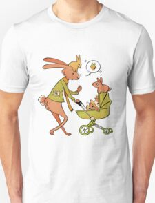 Incorrigibly Fatherly Rabbit Unisex T-Shirt