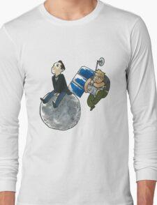 Moon and Satellite MorMor Long Sleeve T-Shirt