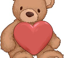 Teddy bear with heart by jeme