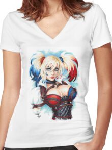 HQ-Girl Women's Fitted V-Neck T-Shirt