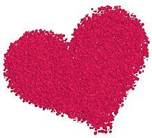 Pink love heart Photographic Print