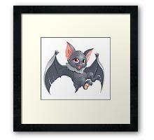Cute Red Eyed Bat Framed Print