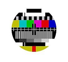 TV test Screen Photographic Print