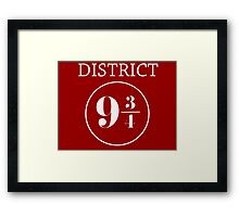 Fandom Crossover District 9 3/4 Framed Print