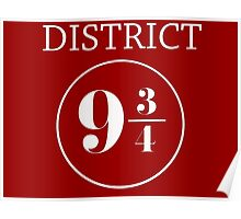 Fandom Crossover District 9 3/4 Poster