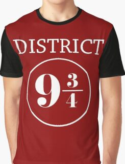 Fandom Crossover District 9 3/4 Graphic T-Shirt