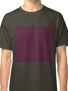 Large Hot Pink Irish Shamrock Clover on Black Classic T-Shirt