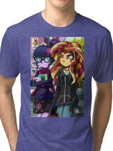 MLP EQG: Twilight and Sunset Tri-blend T-Shirt