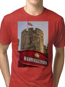 British Telephone box in Canterbury Tri-blend T-Shirt
